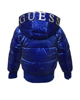 Espalda GUESS cazadora chica azulona letras capucha