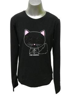 Karl Lagerfeld camiseta gato manga larga
