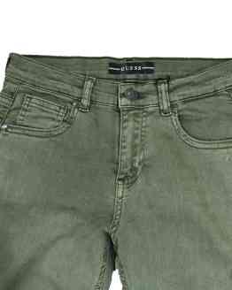 Detalle GUESS pantalón vaquero verde