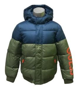 GUESS cazadora chico verde y azul con capucha