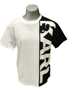Karl Lagerfeld camiseta chico negro y blanco