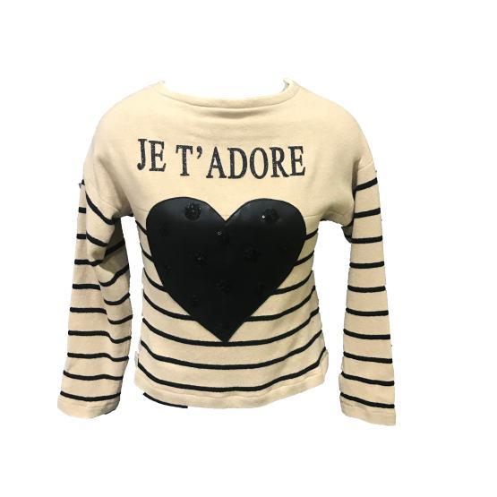 ELSY jersey rayas y corazón