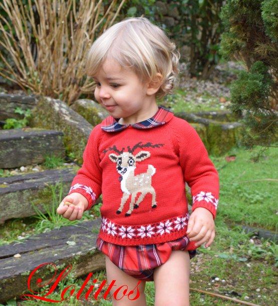 Lolittos colección Christmas jubón con cubre niño