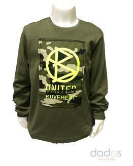 IDO camiseta niño verde con camuflaje