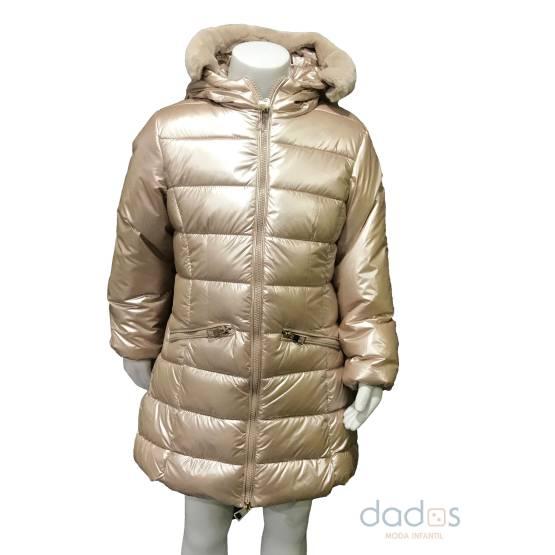 IDO abrigo dorado niña brillo
