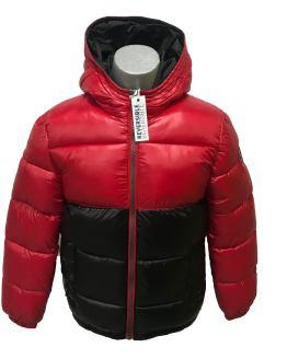 IDO chaquetón chico rojo y negro reversible