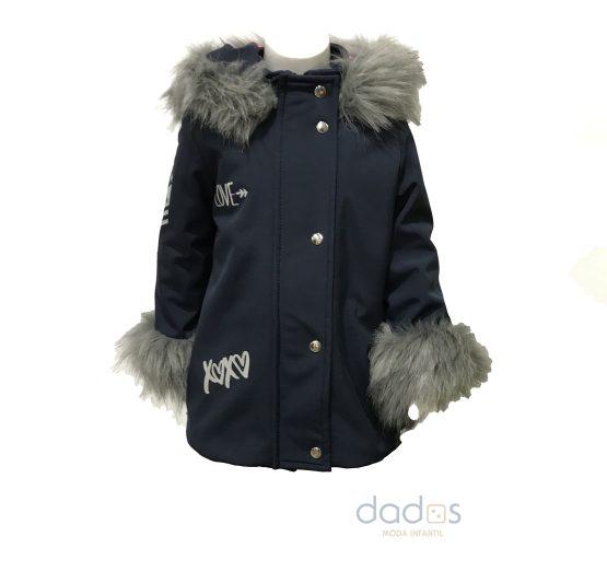 Coquelin abrigo azul espalda estrellas