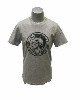Diesel camiseta gris logo negro