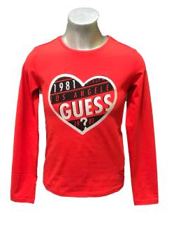 Guess camiseta roja niña corazón