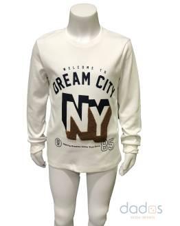 IDO camiseta cruda NY manga larga