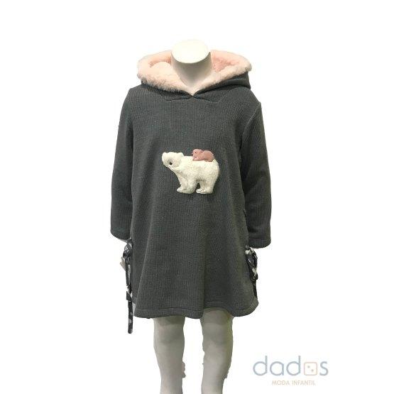 Coco Acqua vestido oso capucha pelo