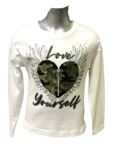 ELSY camiseta blanca corazón