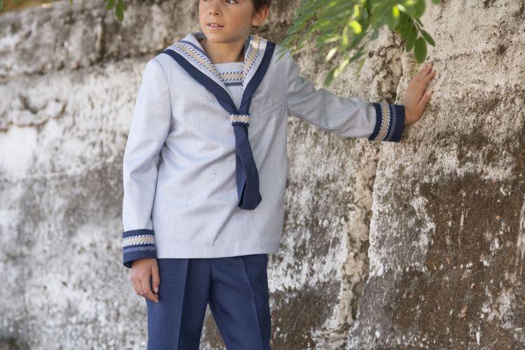 Varones traje comunión marinero celeste y marino