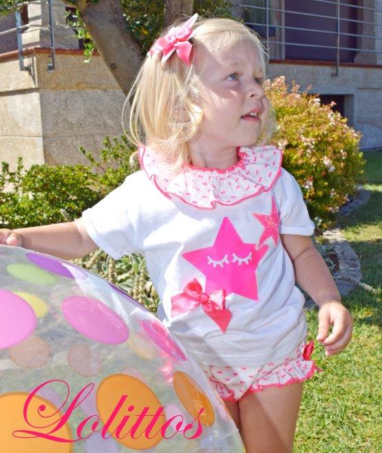 catálogo Lolittos colección Pink camiseta con cubre niña