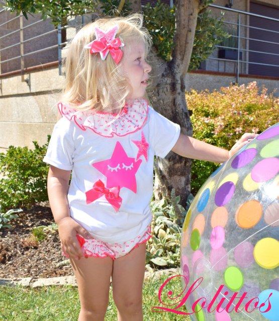 Look Lolittos colección Pink camiseta con cubre niña