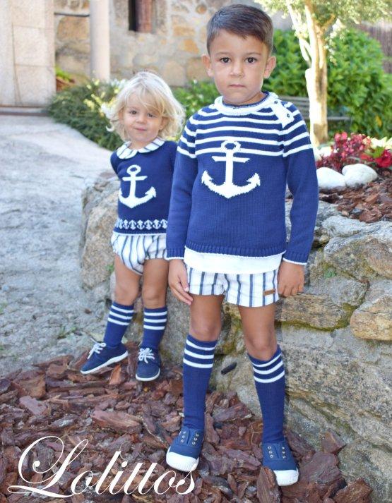 Lolittos colección Ibiza bermuda con camisa niño