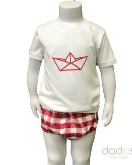 Lolittos colección barquito camiseta con cubre niño