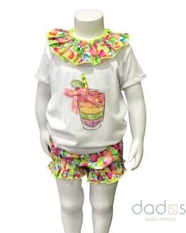 Lolittos colección Fruits camiseta con cubre niña