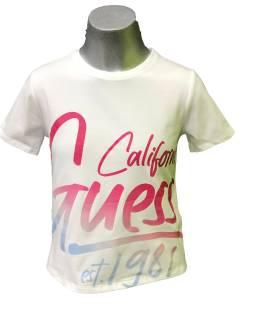 Guess camiseta chica blanca california