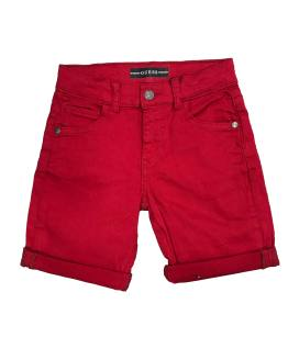 Guess bermuda niño denim roja