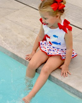 Mon Petit Bonbon conjunto braga y camiseta peces catálogo