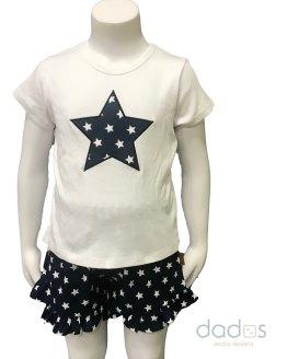 Cocote Conjunto niña short estrellas azul marino