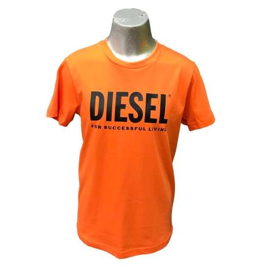 Diesel camiseta chico naranja logo