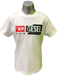 Diesel camiseta chico blanca logo letras