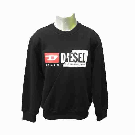Diesel sudadera negra logo letras