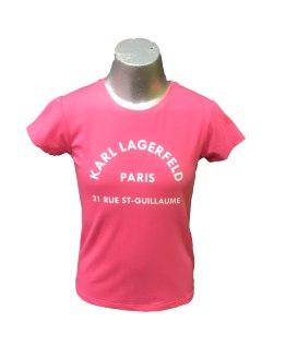 Karl Lagerfeld camiseta chica frambuesa logo letras