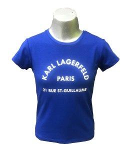 Karl Lagerfeld camiseta chica azulón logo letras