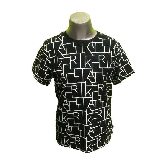Karl Lagerfeld camiseta chico negra letras