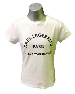 Karl Lagerfeld camiseta chica blanca logo letras