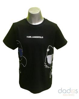 Karl Lagerfeld camiseta chico negra dibujos