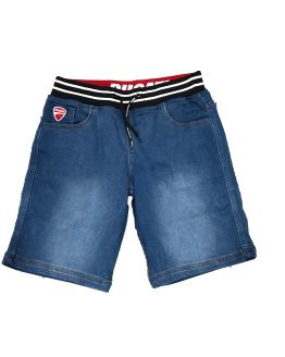 Sarabanda colección Ducati bermuda joggjeans azul cintura goma