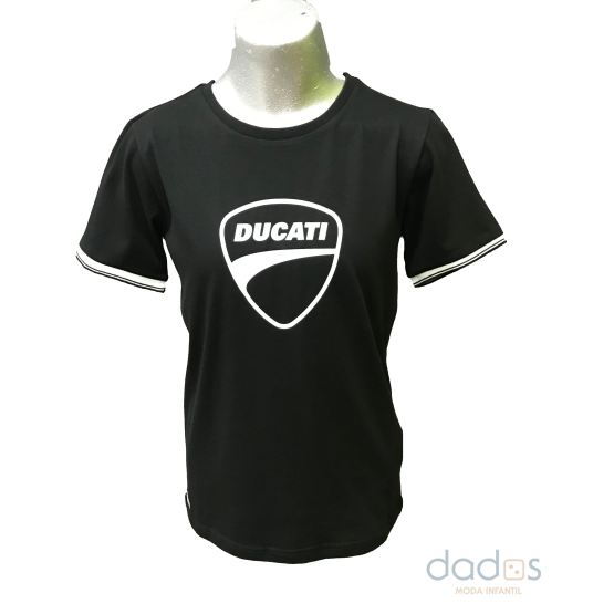 Sarabanda colección Ducati camiseta chico negra logo