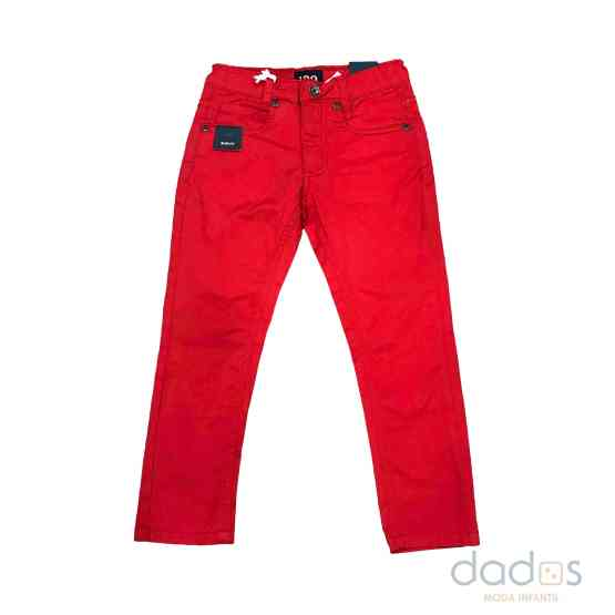 Ido pantalón niño sarga strech rojo