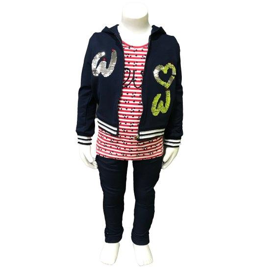propuesta look Ido conjunto jogging niña azul navy corazones
