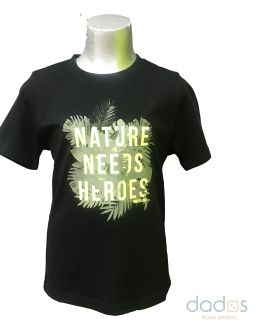 Timberland camiseta chico negra letras lima