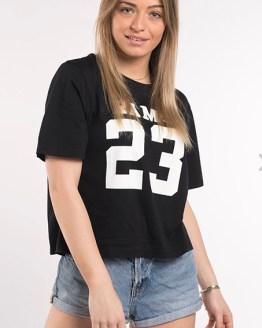 Catálogo Rams 23 camiseta chica Classic logo negra