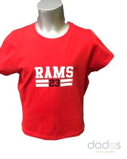 Rams 23 camiseta chica New logo roja