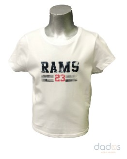 Rams 23 camiseta chica New Logo blanco