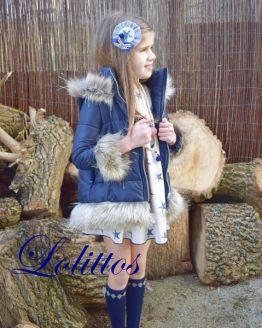 catálogo Lolittos colección Texas abrigo pelo y lentejuelas