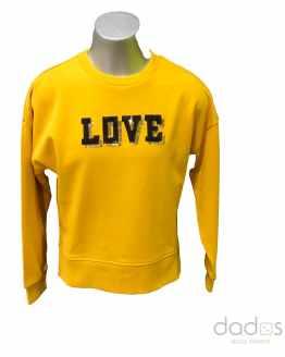 Ido sudadera chica amarilla LOVE