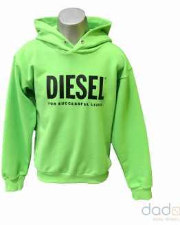 Diesel sudadera verde fluor logo letras negras
