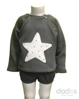 Cocote conjunto bebé niño gris sudadera estrella