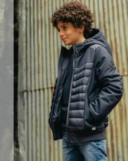 Cars Jeans chaquetón chico negro combinado
