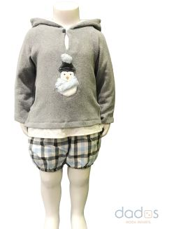 Coco acqua conjunto niño jersey gris pingüino