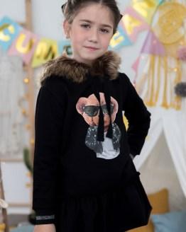 Catálogo Mon Petit Bonbon Vestido en felpa oso capucha pelo