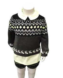 Propuesta conjunto con jersey Lolittos colección Agus rana con camisa niño